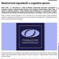 Pokrajinski ombudsman u medijima